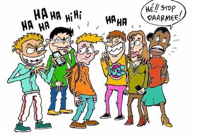 Stop Pesten Nu cartoon copyright