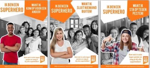 Ik ben een superhero Stop Pesten Nu Held