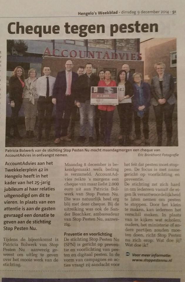 9 december 2014 AccountAdvies Hengelo's weekblad
