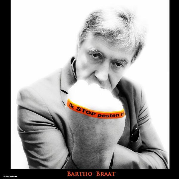 Bartho Braat met oranje bandje tegen pesten en zegt: Ik STOP pesten nu!