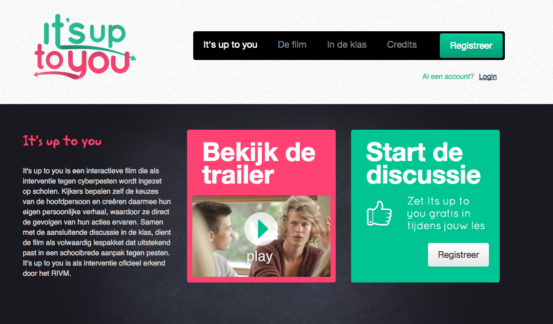 Digitale gratis les over online pesten It's up to you