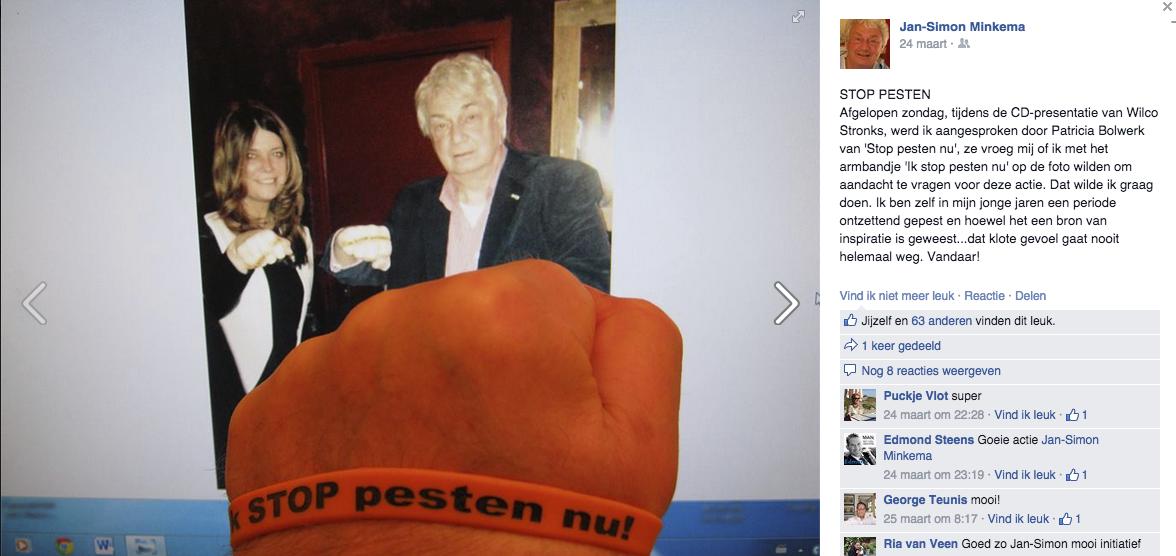 Jan-Simon Minkema zegt: Ik STOP pesten nu!