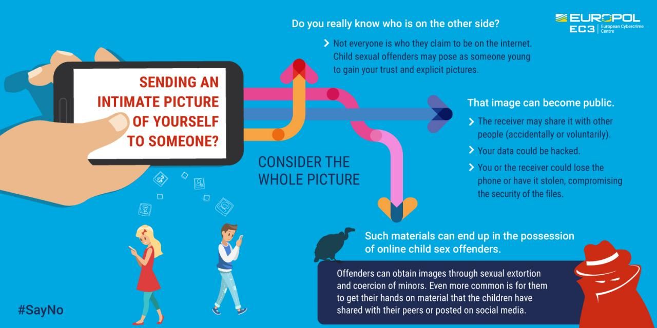 Sending an intimate picture of yourself to someone? Infographic Source Europol