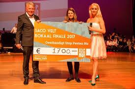 Saco Velt Bokaal 2017 Stichting Stop Pesten Nu
