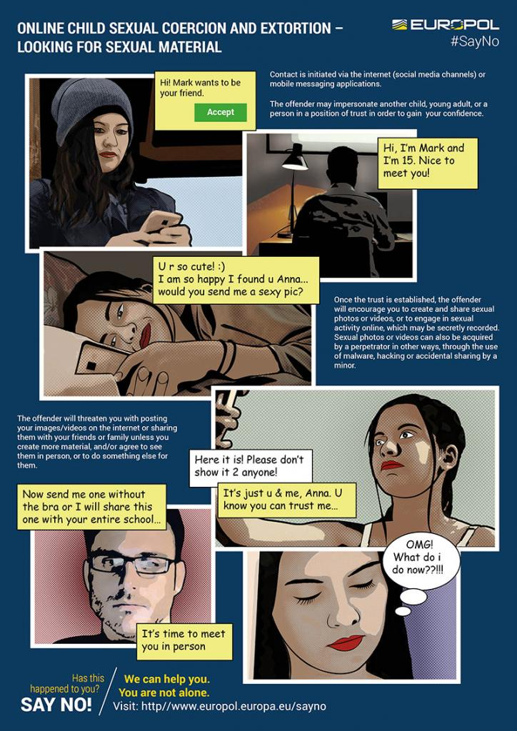 Sextortion Say No campagne Europol en de Politie