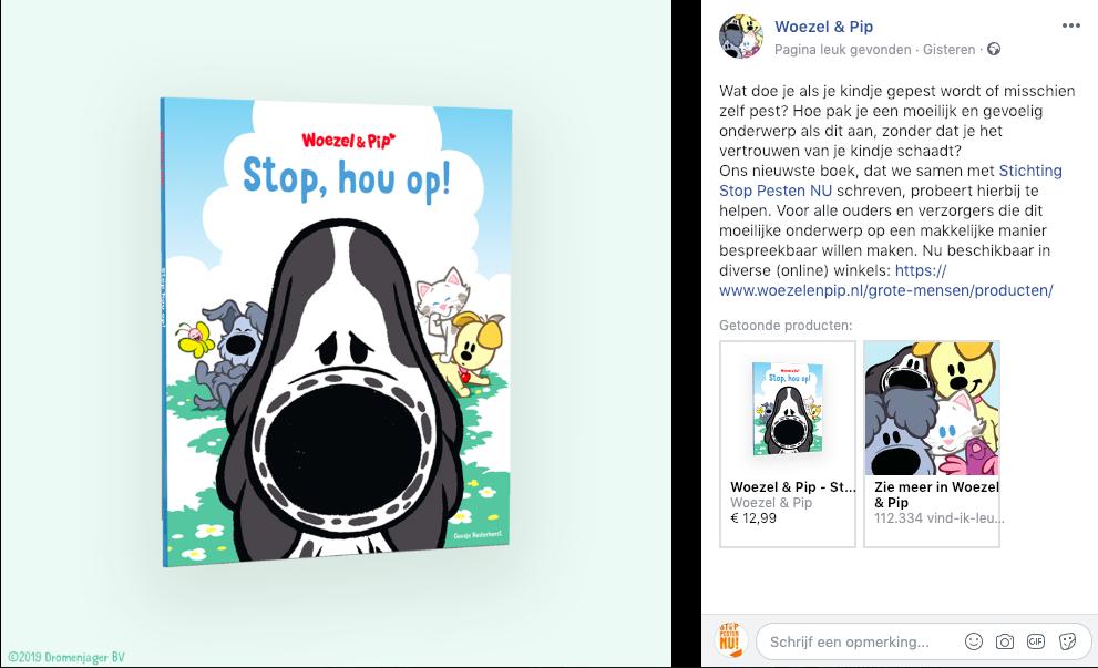 Stop hou op! Woezel & Pip en Stichting Stop Pesten Nu samenwerking om met jonge kinderen pesten bespreekbaar te maken