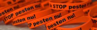 Rubberen bandjes Stop Pesten Nu
