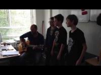 Embedded thumbnail for Lied gemaakt door MaS stagiaires tegen pesten