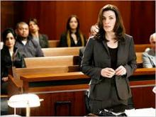 "A courtroom scene from ""The Good Wife."" Photo credit: Eike Schroter / CBS"