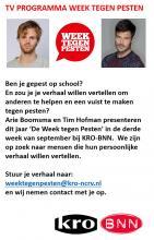 Oproep voor kandidaten augustus 2015 Week tegen Pesten